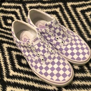 Purple checkered vans
